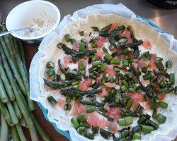 Tarte salée asperges vertes et saumon