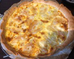Tarte salée asperges blanches et fromage de chèvre